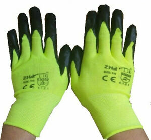 Work Gloves universal Nitrile Coated Safety handymans comforty hand working