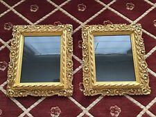 "Pair Antique Victorian Gold Gilt Gesso Picture Frames Fits 8"" x 12"""