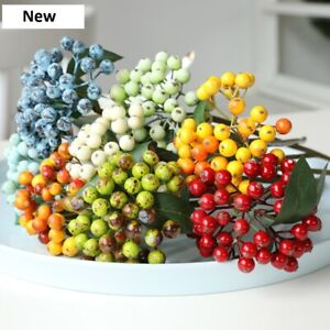 Artificial Berry Branch Fake Floral Plant Fruit Flower For Home Wedding Decor