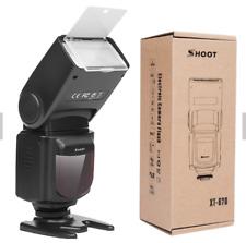 PRO Photography Flash Speedlite XT-670 & LCD Display Screen 4 Canon Nikon DSLR