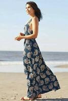 MATILDA JANE Along The Beach Maxi Dress Size XXL 2X Large Woman's In Bag Blue