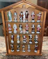 "Lenox Memories of Santa Set of 22 – 1994 New-in-Box 4.5"" Tall With Lenox Shelf"