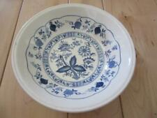 "BILTONS BLUE ONION CEREAL SOUP BOWL 6 1/2"" ACROSS ENGLAND MADE"