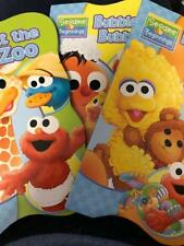 SESAME STREET BEGINNING BOOKS (3) NIGHTY-NIGHT, AT THE ZOO, EYES & NOSE (NEW)