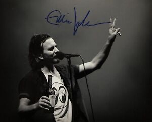 Eddie Vedder - Pearl Jam - Original Autograph - Hand Signed 8x10 with COA