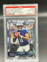2015 Marcus Mariota Topps Chrome #150 Both Hands Rookie PSA 10 GEM Raiders