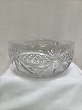 Lead Crystal Cut Glass Fruit Trifle Bowl Dish Diameter 20cm Unboxed Exc Con