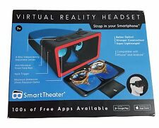 Smart Theater Virtual Reality Headset for iPhone & Android Smartphones 100s Apps
