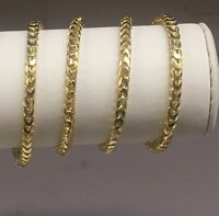 """14KT Solid Yellow Gold D/C Franco Curb Link 30"""" 5mm 95 grams chain Necklace"""