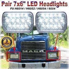 "For Mack Semi Truck CH600 CH700 CL600 Series 7X6"" 5X7"" LED Headlamp Headlights"