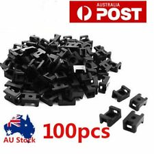 100pcs Screw Fixing Cable Wire Zip Tie Mount Base Saddle Cable Holder Plastic N