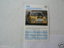 53-RACING CARS 5A OPEL-OMEGA 3000 24 V  KWARTET KAART,CARD