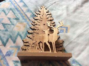 Illuminated Wooden Christmas Decoration