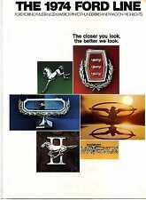 1974 FORD LINE PINTO MUSTANG II LTD MERCURY MAVERICK T BIRD DEALER BROCHUREMBX8