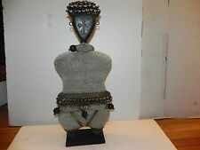 """Arts of Africa -  Sao Ancestral Fertility Figure - Chad - 24"""" Height x 11"""" Wide"""