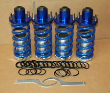 93-97 DEL SOL BLUE RACING SUSPENSION COILOVER LOWERING SPRING+ BLUE TOP HATS CRX