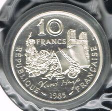 FRANCE - BELLE EPREUVE  ARGENT- 10 FRANCS VICTOR HUGO 1985