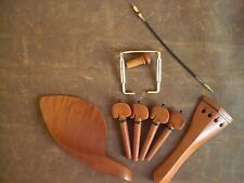 1 Set JUJUBE Violin fitting 001# with tail gut and GOLD chin rest screw 4/4