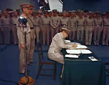 COLOR WW2  Photo Japanese Surrender on  USS Missouri WWII World War Two