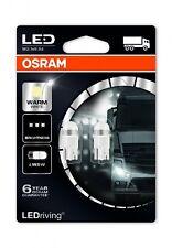 COPPIA Lampada Lampadina Luce OSRAM LEDriving T10 (W5W) 24V W2.1x9.5d Warm White