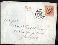 France 1866 40c Emperor Napoléon Epernay To Glasgow Rear Red PD
