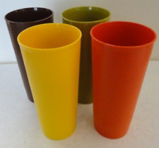 Tupperware Weighted Tumblers Autumn Harvest 12-oz Brown Green Orange Yellow New