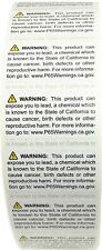 """California Prop 65 Contains Lead Warning Labels 