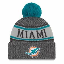 Miami Dolphins Era Knit Hat Graphite 2018 Sideline Beanie Stocking Cap 2510bc129