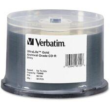 Verbatim 96159 Cd-R 700Mb 52X Ultralife Gold Archival Grade 50Pk Spindle Taa