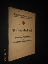 Deutsches Rotes Kreuz Ausweisbuch 1936 weibliche Hilfskräfte Eppertshausen Bild