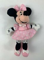 """WALT DISNEY STORE MINNIE MOUSE PINK OUTFIT SMALL 9"""" PLUSH STUFFED SOFT TOY TEDDY"""