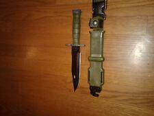 NEW US Military Tri Technologies M9Bayonet Fighting Knife & Scabbard Combat