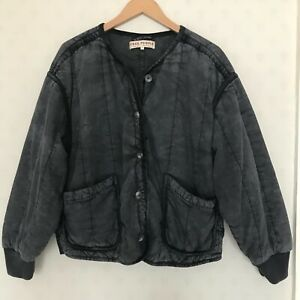 FREE PEOPLE WASHED BLACK DOLMAN JACKET WITH VELVET PIPING (SIZE M)