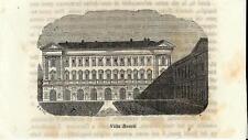 Stampa antica LOMAGNA villa Busca Arconati Visconti Lecco 1859 Old antique print