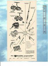 Vintage 1957 Garcia Mitchell, Ambassadeur Reels, Rods, Line, Lures Advertisement