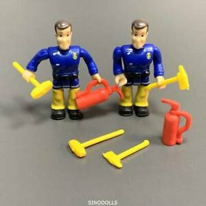 Lot 2pcs Fireman Sam Elvis 2.5'' Action Figures w/ Accessories Toy Playset Gifts