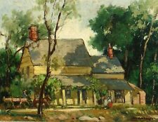 HAROLD C. WOLCOTT, Listed, Old Homestead, original oil painting