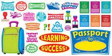 Pasaporte para el aprendizaje Bulletin Board gran aula Display Banner Set