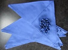 More details for 3 x blue chef neckerchief + 20 blue replacement buttons