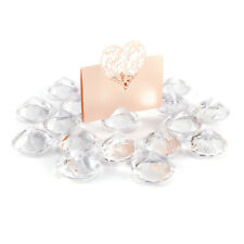20x Diamond Effect Wedding Table Name Place Card Holders Favours Events