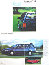 Mazda 323 1500 Estate 1990-91 Original UK Sales Brochure