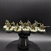 Well Painted 28mm Bolt Action German infantry 10 man squad 1 (winter) ww2