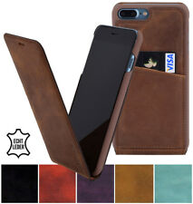 """IPHONE 8 Plus 5.5 """" Case Flip Style Leather Pouch Wallet Protective Cover Bumper"""