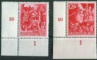 Deutsches Reich DR Nr. 909 - 910 postfrisch Eckrand Satz 910 ndgz SA SS WW II