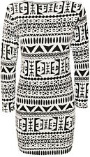 Regular Size Casual Geometric Dresses for Women