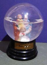 Antique Vintage Holy Family Snow Dome Snow Globe Heavy Glass & Bakelite Base