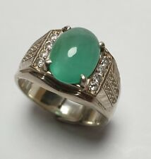 3.58 ct. GENTLEMEN RING EMERALD COLOMBIA NATURAL UNTREATED