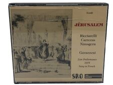 Jewel case cracked. Verdi Jerusalem. Ricciarelli Carreras Nimsgern. 1975 French