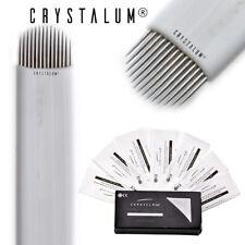 Microblading Blades agujas 14 vomitando x50 Herramienta De Tatuaje Desechable Cejas crystalum