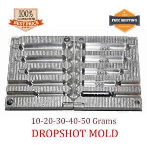 Fishing Drop Shot Mold Lead Sinker Finesse Slim Weights 5 cavity (10 - 50 G)